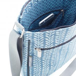 Vine Blue Large Crossbody Bag