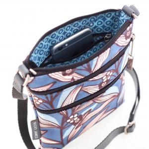 Wildflower Blue Mini Crossbody Bag