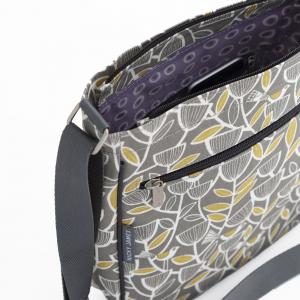 Grey Bird Large Crossbody Bag